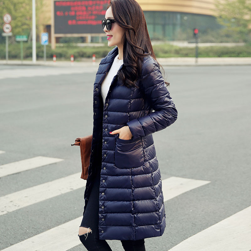 Sanishroly Autumn Winter Women Long   Coat   Outerwear Ultra Light   Down     Coat   Parka Female White Duck   Down   Jacket Plus Size 4XL SE405