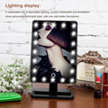 Maquillaje Vanidad Iluminado Escritorio Maquillaje Cosmético Espejo de Pie con 21 LED de Luz
