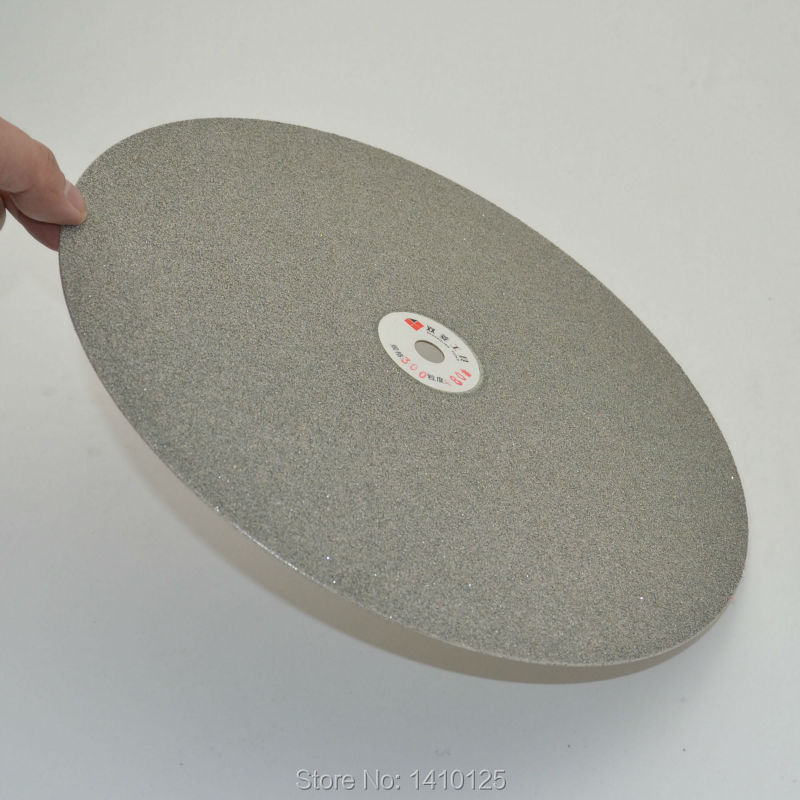12 inch 300mm Grit 80 Diamond coated Flat Lap Disk Grinding Polish wheel Coarse
