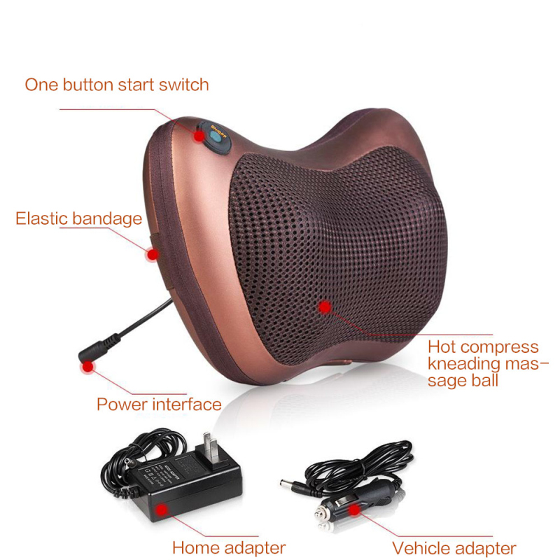 Relaxation Vibrator Electric Massage Pillow For Shoulder Back With Heating Kneading Infrared Therapy 3