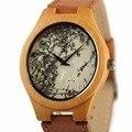 Novo Design REDEAR Homens Relógio de Couro Relógio Relógio De Pedra de Superfície De Madeira de Bambu Assistir Top Marca de Luxo relógio de Pulso