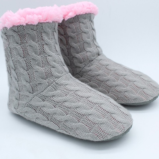 SIKETU 2017 New Style Doe's Not Hurt The Floor Slippers At Home Knitting Wool Slippers In The Spring Autumn Winter