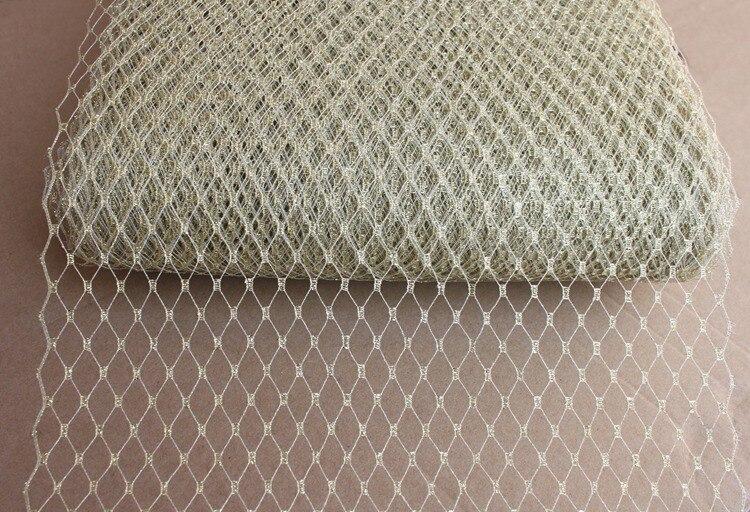 9(22cm) Silver Metallic Veiling For Fascinator Hat Veil Fabric 10yard/lot