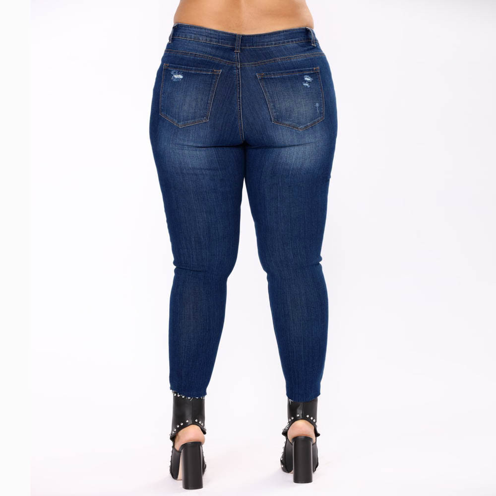 ec5a3e9d5d1 2018 New Plus Size Retro Big Size Casual Skinny Jeans High Waist Slim Pants  Woman Denim Jeans Stretched Ripped Bottoms YL-NEW