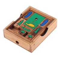 Wooden 3D Puzzle Escape Golf Game Brain Teaser IQ Test Intelligence Development Educational Toys Gift for Children Adults