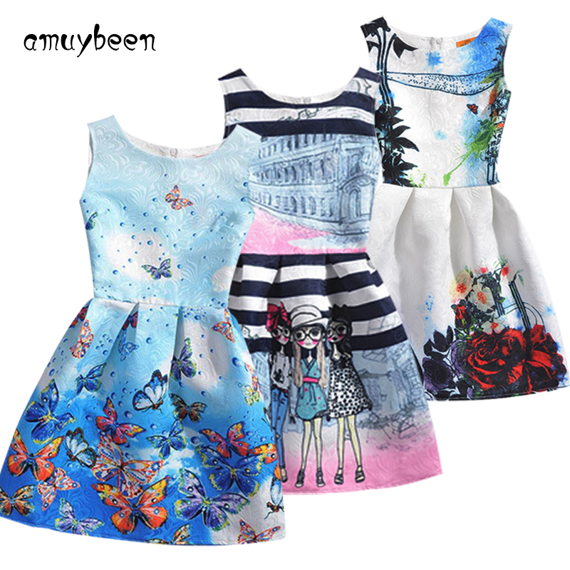 Amuybeen 2017 Wedding Sundress Summer Dress For Girls Kids Clothes Teenagers Baby Girl Flower Party Dresses For 9 10 12 Years 02 baby girls party dress 2017 wedding sleeveless teens girl dresses kids clothes children dress for 5 6 7 8 9 10 11 12 13 14 years