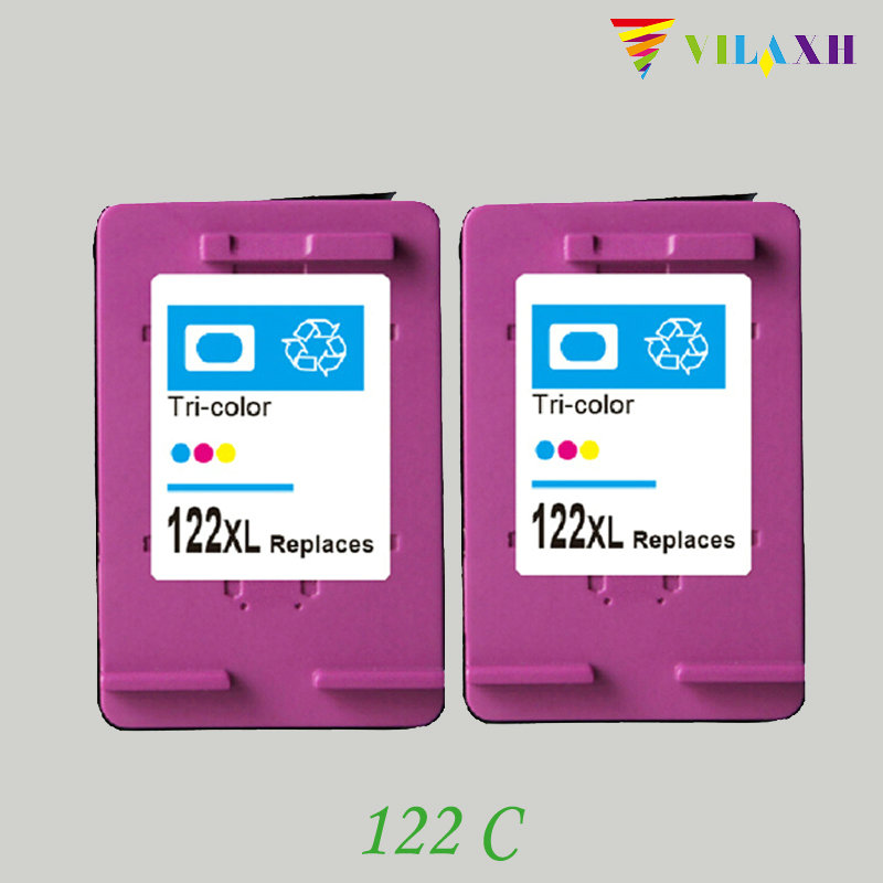 vilaxh 122xl Compatible Ink Cartridge Replacement for HP 122 xl For Deskjet 1000 1050 1050A 1510 2000 2050 3050 3050A Printer