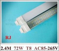 R17D 튜브 램프 형광 LED 튜브 전구 두 행 T8 2400 미리메터 8피트 SMD 2835 384led (4 * 96led) 72