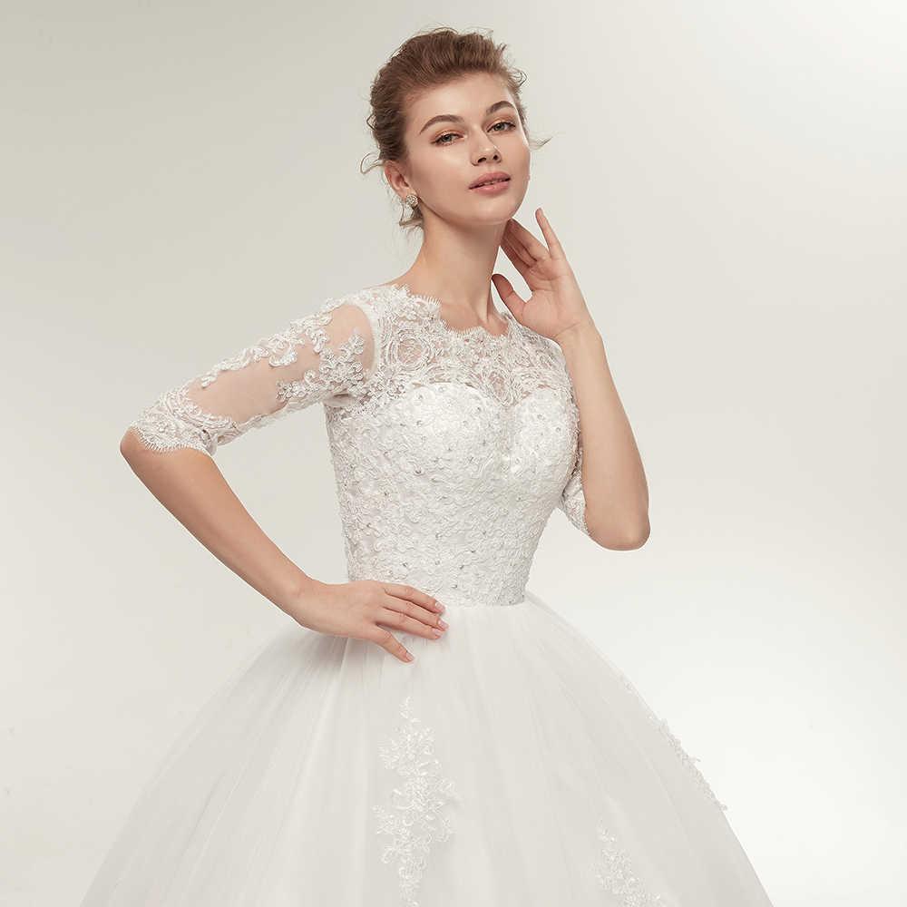 b3675800c ... Fansmile foto Real Vintage de encaje bola vestidos de boda 2019  personalizado Plus tamaño vestidos de ...