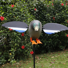 2017 Free Shipping 50-100 Meters Remote Control Hunting Duck 6V/12V Hunting Duck Decoy With Spinning Wings