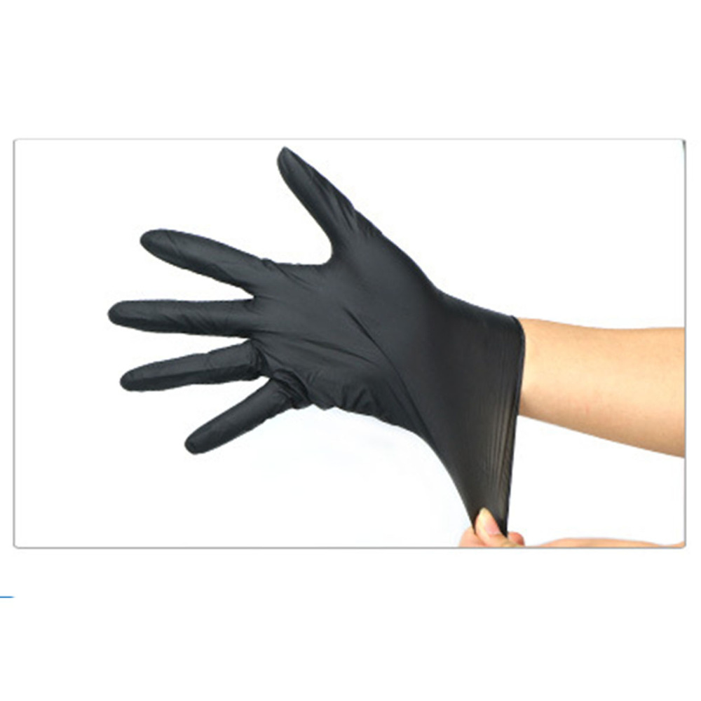 50 Pairs Latex Tattoo Gloves Disposable Soft Black Medical Nitrile Sterile Tattoo Gloves Tattoo Accessories fwpp disposable nitrile gloves medical grade powder free latex free disposable non sterile food safe s m l black 50 pcs