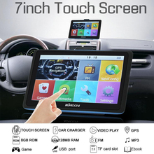 Pantalla táctil de navegación Universal para vehículos con Mapa Europeo 8GB GPS para coche 7 pulgadas navegador portátil para coche
