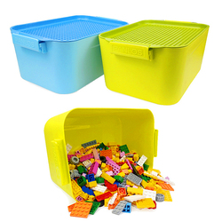 NewLegoing Storage Box 700PCS Grain Accept Box Spelling Insert Assembling Size Plastic Building Blocks Bucket Toy gift