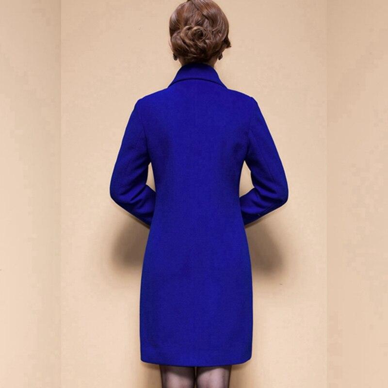 Wool Coat Female Fashion Women Woolen Coats High-end Elegant Long Slim Winter Jacket Royal Coats&Jackets Plus Size Femininos 4XL 2