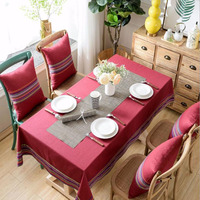 Tablecloth waterproof anti scalding oil free disposable Nordic rectangular coffee table tablecloth cotton and linen small fresh