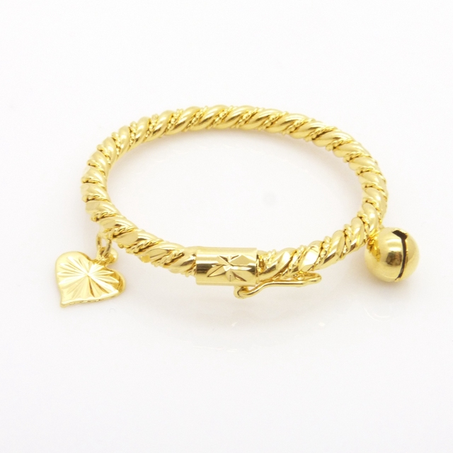 Infant Bracelet Yellow Gold Filled Baby Bangle Dia 35mmin Bangles