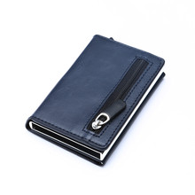 Luxury RFID Crazy Horse Leather Mens Wallet Man Cowhide Cove
