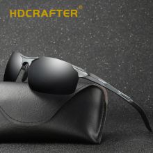 HDCRAFTER Brand Designer Polarized Sunglasses Men Aluminum Magnesium Glasses Driving Sun For Eyewear Accessories