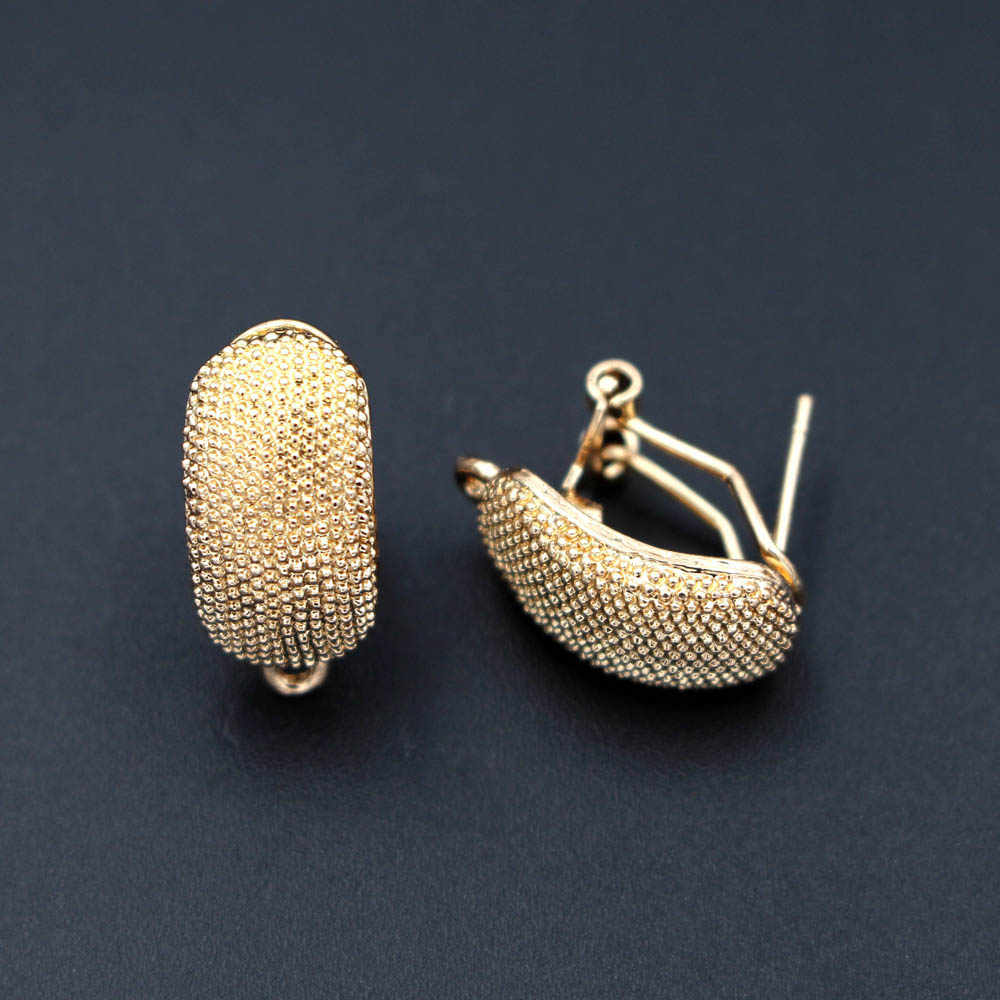 Afrikanische Ohrringe Post Schleife Anschlüsse Nigerian Chile Dubai Gold ton Frauen Hochzeit Ohr Clip Haken Ohrring Erkenntnisse DIY Machen