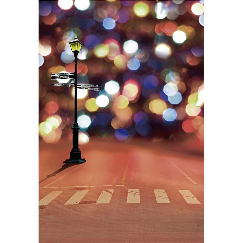 Bokeh Flowers Wedding: Custom Vinyl Cloth Street Lamp Bokeh Photography Backdrops