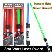 1Pcs Sound Light Laser Sword Lightsaber Cosplay Children Flashing Toys Boy Girl Gift Luminescent Music Telescopic Laser Sword