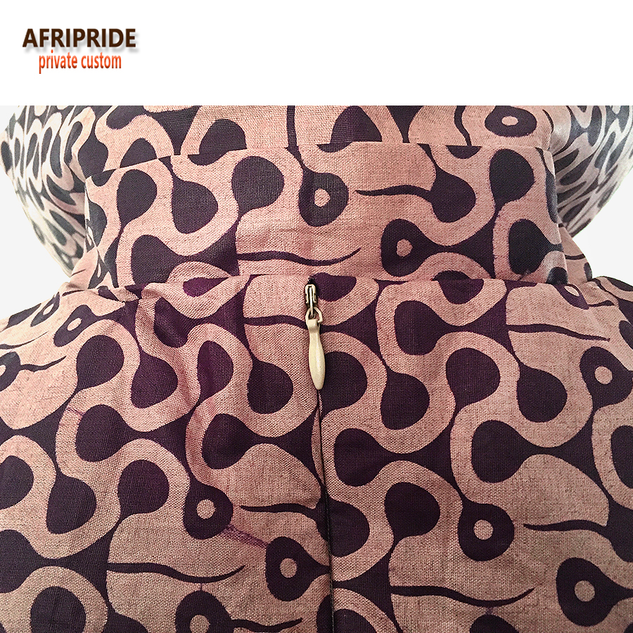 19 summer african casual dress for women AFRIPRIDE sleeveless notched collar knee length A line pure cotton women dress A7225128 in Dresses from Women 39 s Clothing