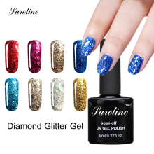 Saroline 3D lucky Glitter Color Gel Soak Off Nail Art Design UV LED Diamond Glitter Shimmer Effect vernis semi permanent