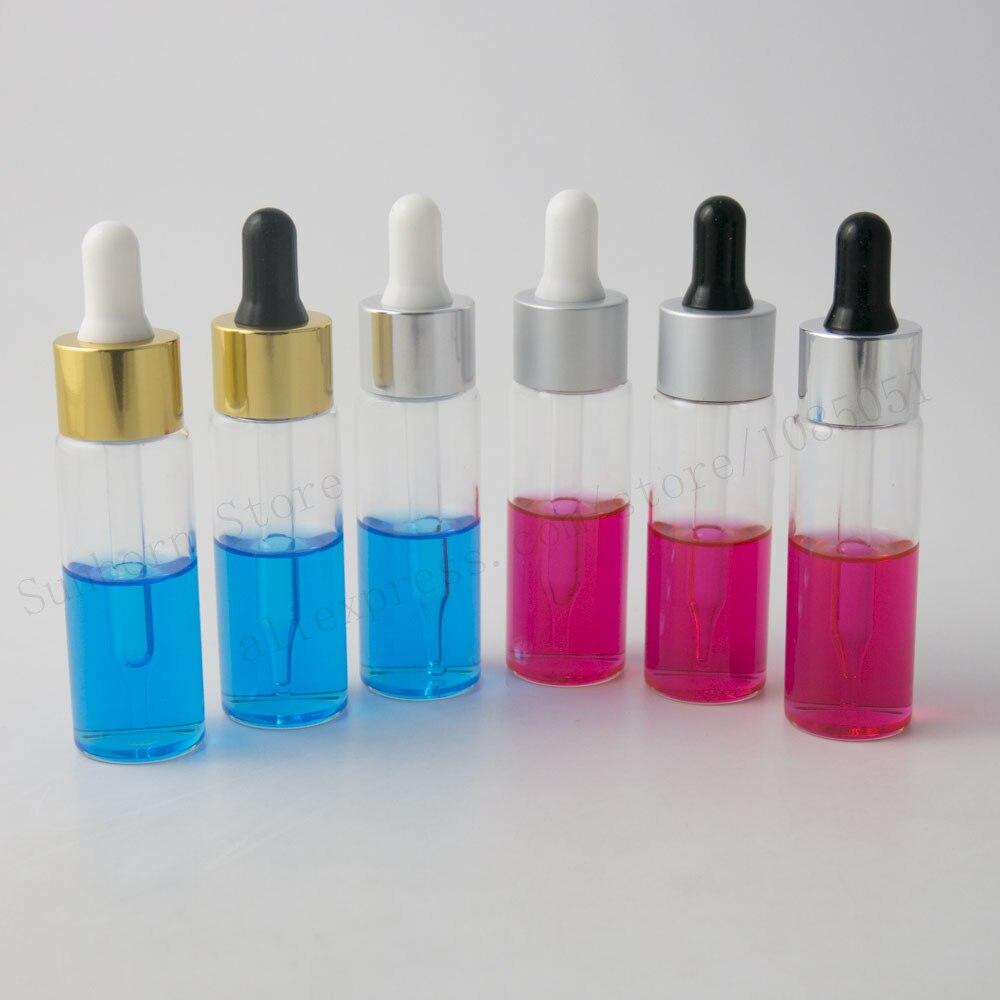 € 19.88 10% de réduction|nouveau design 24 pcs/lot x 30 ml flacon compte  gouttes, clair bouteille en verre gouttes, 30cc 1 oz récipient en verre