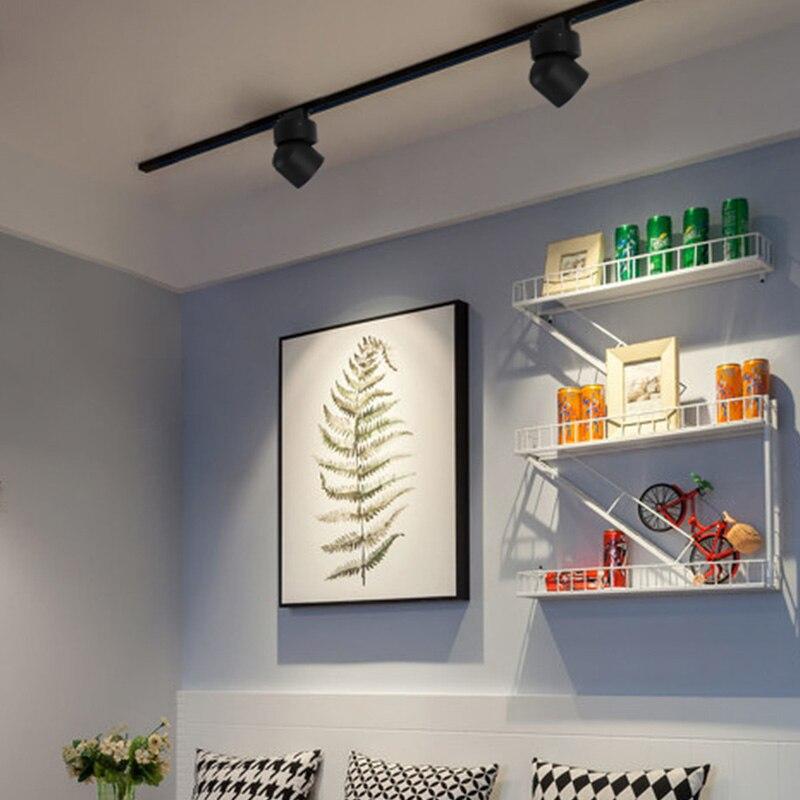 Aisilan, скандинавские светодиодные прожекторы, рельсы, современный стиль, повседневное освещение точечная лампа для гостиной, спальни, коридо...