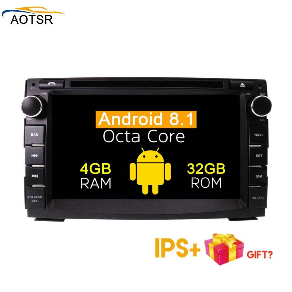 Ips Layar Android 8.1 Car Multimedia DVD Player Head Unit untuk Kia Ceed 2009 2010 2011 Gps Navigasi Radio Auto stereo 4 + 32G Bt