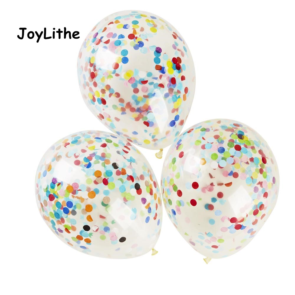 Confetti Filled Balloons (12) Colorful Paper Confetti Bouquet Wedding Birthday Party Decoration Colourful Confetti as show