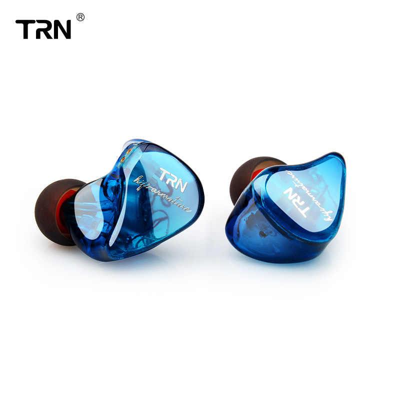 2019 TRN IM1 1DD + 1BA Hybrid w ucho słuchawka Monito sportowe słuchawki do biegania DJ zestaw słuchawkowy hi-fi odpinany 2Pin niestandardowy kabel słuchawki