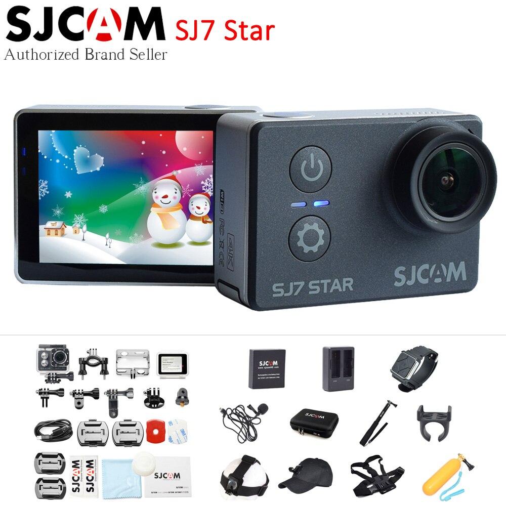 SJCAM SJ7 Étoiles 4 K 30fps Wifi D'action Caméra Gyro 2.0 Écran tactile Ambarella A12S75 Ultra HD Étanche À Distance Sport DV SJ Cam 7