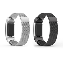 Replacement Bands for Fitbit Charge 2 Band Milanese Loop Stainless Steel Strap Smart Watch Metal Bracelet with Magnetic Lock