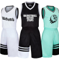 Mens basketball jerseys children youth blank basketball jerseys sports breathable basketball shorts shirts uniforms suits kits