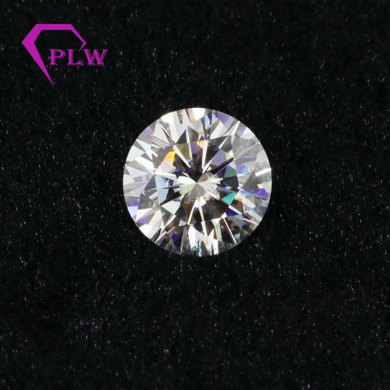 Including certification Factory Price IJ Color 1 5ct 7 5mm VVS Excellent Brilliant Cut Yellowish Moissanite