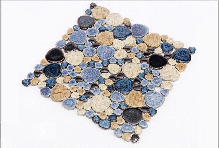 Bekannt Porzellan kiesel mosaik fliesen küche backsplash badezimmer JG07