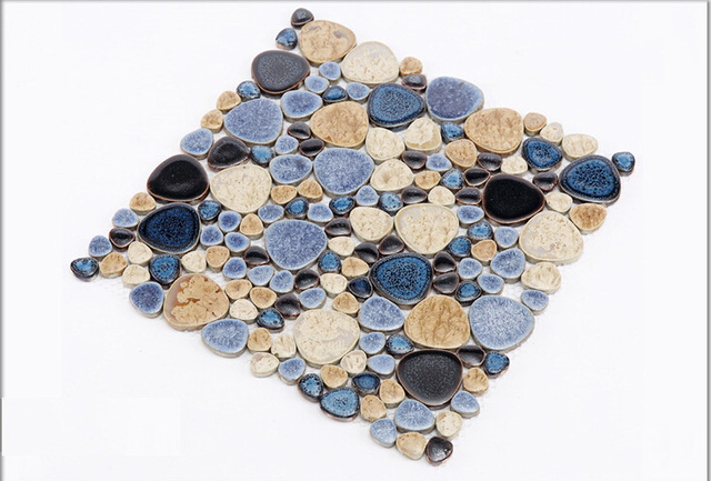 Porzellan Kiesel Mosaik Fliesen Küche Backsplash Badezimmer