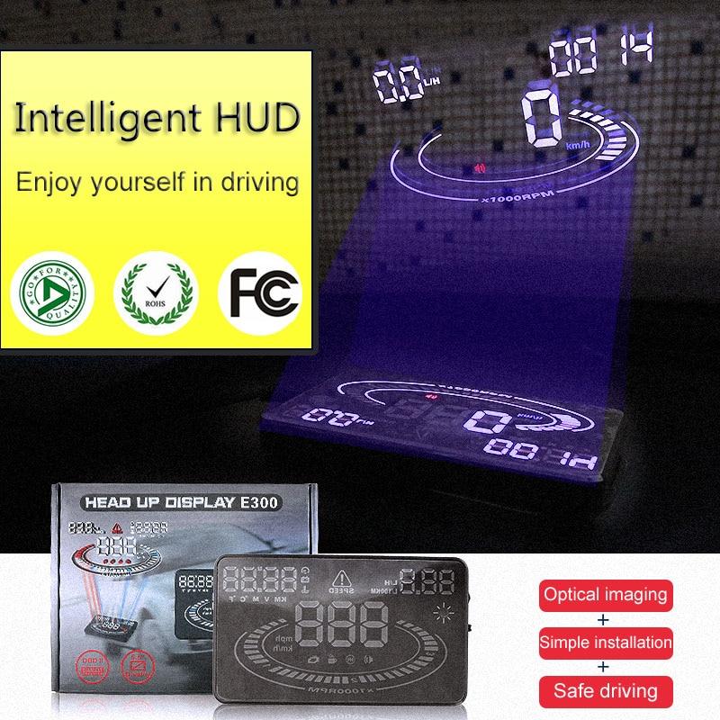 high performance CE 5.5 inch Car hud head up Display OBD II speed monitor car hud Suitab ...
