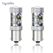 цена на 2PCS LED Car Bulb 1156 BA15S P21W 1157 BAY15D Canbus Rear Reverse DRL Auto Lamp  Reverse Light for ford focus 2 mk2/vw passat b6