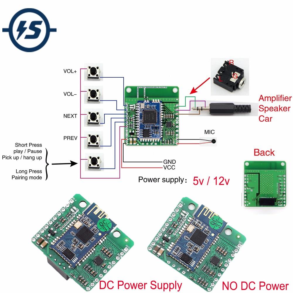 CSR8645 módulo Bluetooth DC 4 V/5 V/12 V aislado APT-X música sin pérdidas Hifi 4,1 tablero receptor amplificador para altavoz de Audio para coche