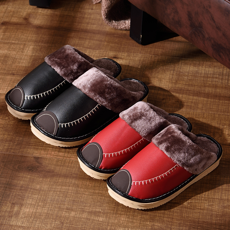 UNN 2018 Indoor Home PU Slipper Comfortable Plush Cotton Cute Slippers Sneakers Non-Slip Flooring Residence Furry Slippers Couple Sneakers Bed room Slippers, Low-cost Slippers, UNN 2018 Indoor Home PU...