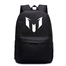 Messi backpack New men women Boys Girls school Backpacks beautiful School bags for boys girls back to school Mochila cheap NYLON Unisex Softback zipper Polyester 20-35 Litre Arcuate Shoulder Strap printing backpack NONE Casual Soft Handle Interior Compartment