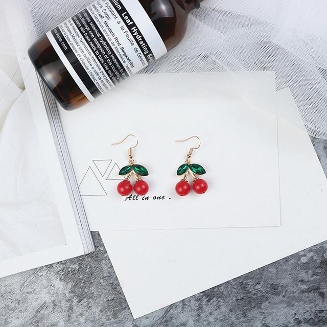 Cute Cherry Patterned Earrings