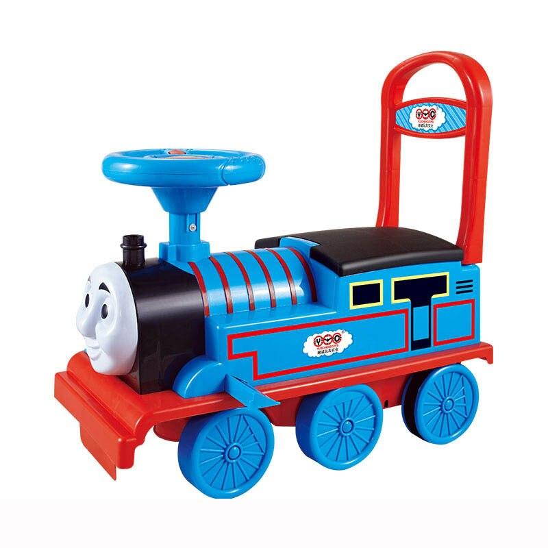 Livraison gratuite petit Train voiture électrique Rail enfant bébé marcheur peut s'asseoir poussette jouet voiture garçons jouet monter dans le Train - 3