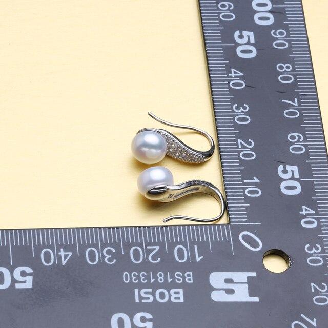 FENASY Gioielli di Perle, orecchini di perle orecchini, 925 orecchini d'argento per le donne con la scatola, vintage etnico orecchini