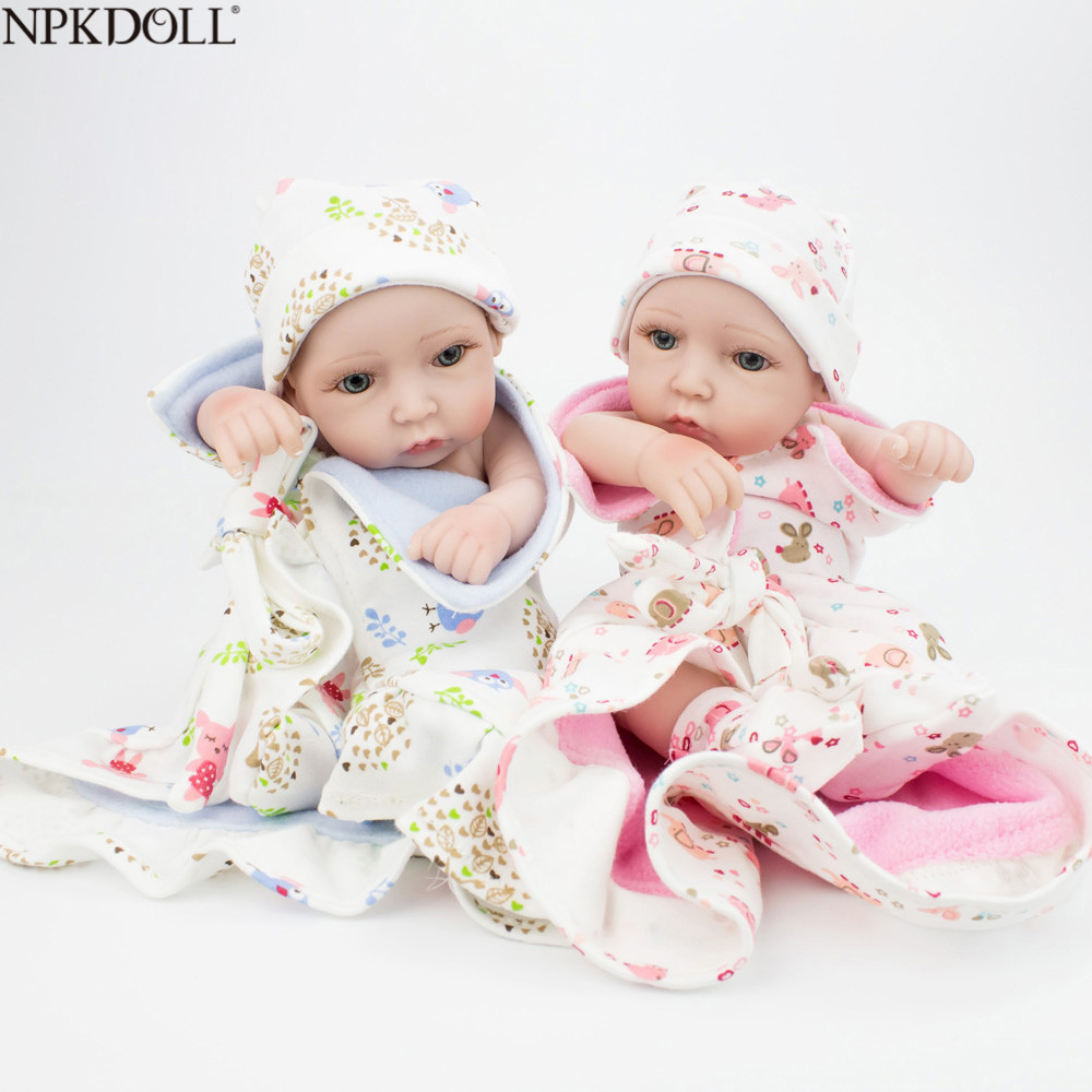 NPKDOLL 10 inch 28cm Full Silicone Reborn Baby Dolls Alive Lifelike Real Dolls Realistic Kids Reborn Babies Twins Bebe RebornNPKDOLL 10 inch 28cm Full Silicone Reborn Baby Dolls Alive Lifelike Real Dolls Realistic Kids Reborn Babies Twins Bebe Reborn