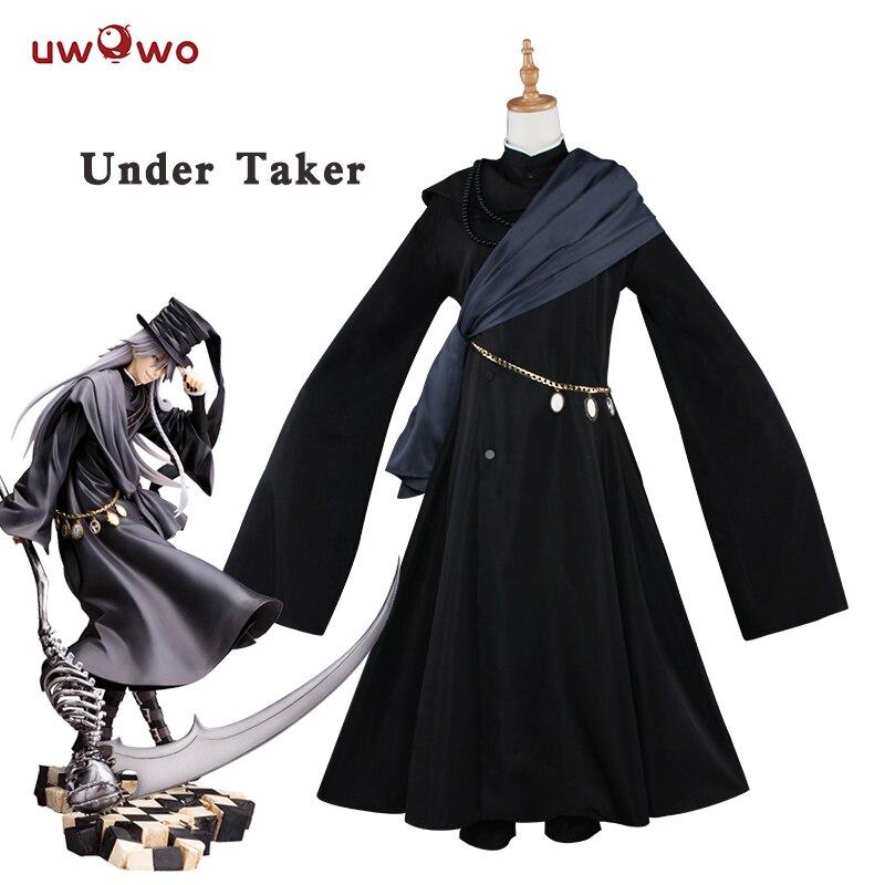 UWOWO Under Taker Cosplay Black Butler Book of Circus Costume Black Butler Cosplay Kuroshitsuji Under Taker Costume Kuroshitsuj