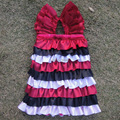 Girls Clothes Baby Dresses Designs Princess Birthday Dresses For Toddlers Black And Red KP-SDS009