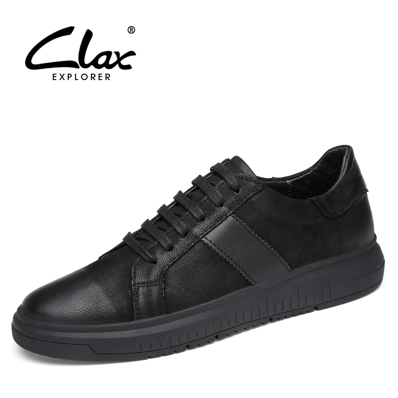 CLAX Men Casual Shoes Spring Autumn 2018 Fashion Leather Shoe Male British Style Leisure Footwear Walking Shoe Soft Large Size bimuduiyu new england style men s carrefour flat casual shoes minimalist breathable soft leisure men lazy drivng walking loafer